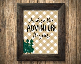 Woodsy Printable Adventure Printable/ Instant Download/ Pregnancy Announcement