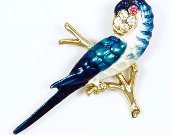 Blue And White Parakeet Or Budgie Pin