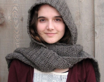 muir wood hooded scarf