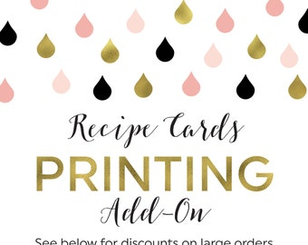 Printing Add-On for Any Recipe Cards in the Shower That Bride Shop