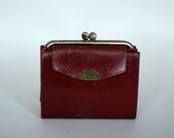 vintage billfold ladies brown leather by heritage