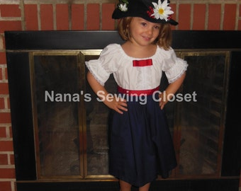 Mary Poppins Dress & Hat