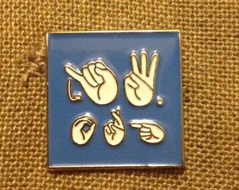 3.25 ea. >ASL (American Sign Language) - JW.ORG Blue Lapel Pin