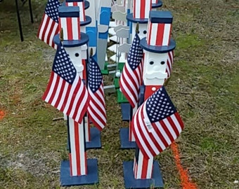 Wooden Porch Greeters - Uncle Sam, NFL, MLB, NHL & more
