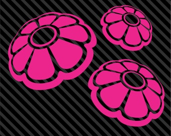 Set of 3 VW bug beetle daisy flowers Volkswagon Car Truck Choose Size and Color
