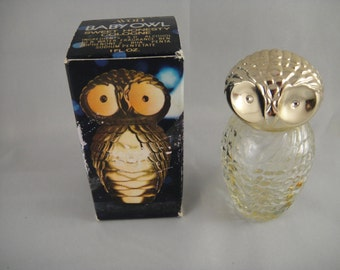 Vintage Avon Baby Owl Cologne Decanter