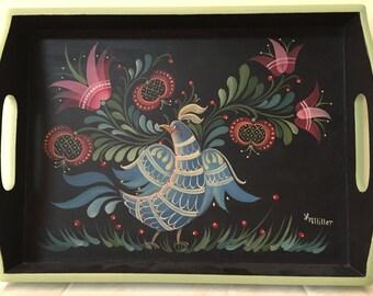 Painted Tray-Penn-Dutch Style Folk Art