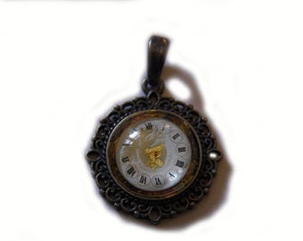 Steampunk Amulett pendant necklace clockwork