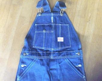 Vintage bib overalls, Old Hickory,  27 waist x 23 inseams, never worn, farm cloths, vintage children cloths