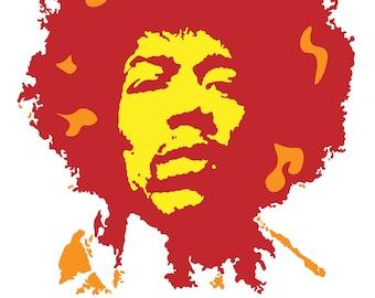 Jimi Hendrix Graphic Design