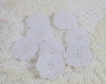 Mini livre blanc napperons - lot de 12