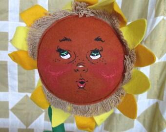 """Vintage Annalee Doll Sunflower Decor 18"""""""