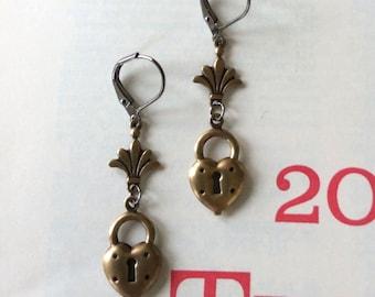 Heart Lock Earrings