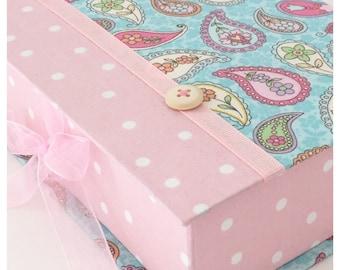 Handmade Cartonnage All you can Organize, Jewelry Box, Womens gift box, Keepsakes Box