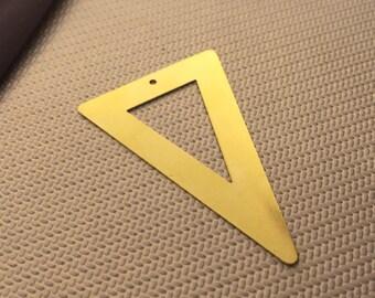 10 pcs 33x52x52 mm Raw brass triangle necklace jewelry