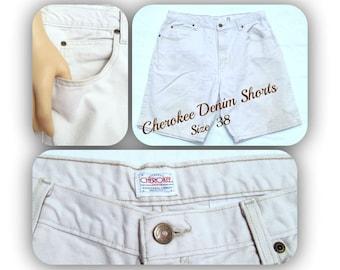 vintage men's shorts,men's denim shorts, casual shorts, men's white shorts, Size 38,    # 34