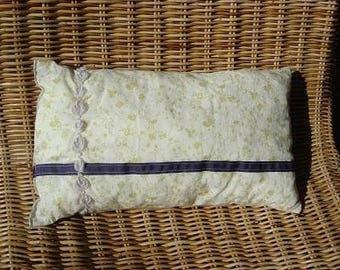 Purple garden cushion