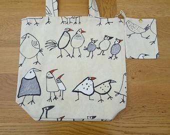Chicken  Tote Bag  16 x 16 inches  shopping bag , market bag ,beach bag , book bag, etc