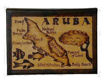 ARUBA - Leather Travel Journal / Sketchbook - Handcrafted