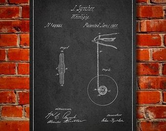 1867 Yo-yo Patent, Canvas Print, Wall Art, Home Decor, Gift Idea