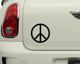Peace Sign Vinyl Decal Peace Sign Sticker Peace Sign Car Decal Laptop Sticker