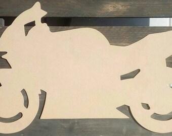 Bike silhouette wood painting - drawing - fretwork-
