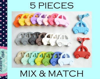 5 PIECES silicone sensory necklace large car teething nursing necklace teether chew chewelry bite toy boys girls Autism ADHD Aspergers