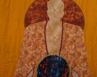 Labyrinth in Buddha Belly, Orange or Purple Wall-Hanging—FREE SHIPPING USA