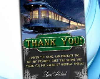 Polar Express Thank you - Polar Express Birthday Party - Polar Express Printables - Christmas Invitation