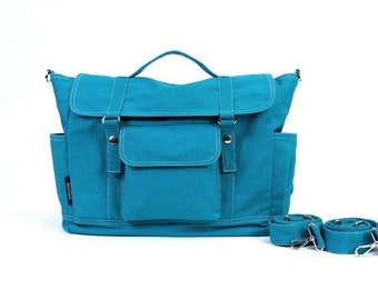 Mother s Day Big Sale DYLAN // Teal / Lined with Beige / 074 // Ship in 3 days // Backpack / Diaper bag / Shoulder bag / Tote bag / Messenge
