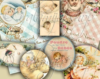 BEBE collage Digital Images -printable download file-