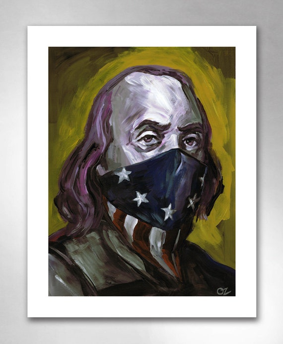 BEN FRANKLIN Bad Boy for Life American Art Print 11x14 by Rob Ozborne
