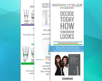 UPDATED With New Solution Tool | Rodan + Fields Brochure Design / Rodan and Fields / Rodan and Fields Marketing / R and F Consultant / R+F