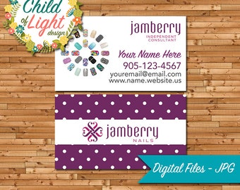 Jamberry Business Cards - Independent Cards - Custom Business Card - Purple Polka Dot - Personalized Cards - Print Your Own