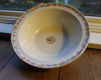 "Taylor Smith Taylor Bowl, 9"" Round Vegetable Serving Bowl, #1631"