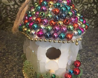 Sparkly Multi- Colored Fairy House
