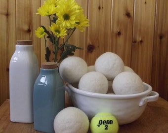 BIG lot, FREE Shipping to U.S.A., Premium Wool Dryer balls,  24 balls, Made in America by SAHM, Wooley Klean