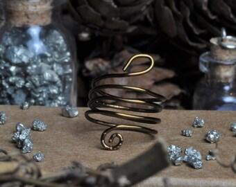 Spiral Snake Wire Ring