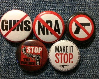 "Anti-Gun | 1"" Button Pinbacks"