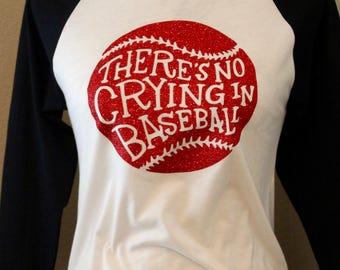 No Crying In Baseball Shirt, Mom Shirt with Baseball No Crying In Baseball, Baseball Mom Shirts, baseball moms, No Crying In Baseball