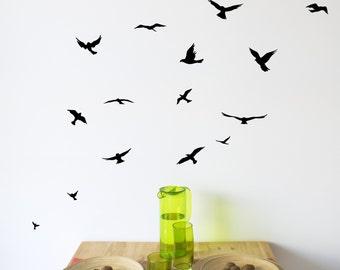 Flock of Birds wall decal