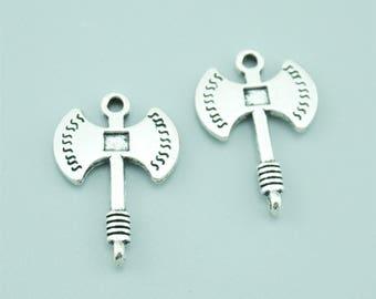 20pcs 23x16mm Antique Silver Axe Charm Pendants ZY11445