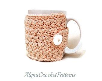Crochet Pattern - Tea Cup Cozy Crochet Pattern- Instant Download- Coffee Cup Crochet Cozy Pattern