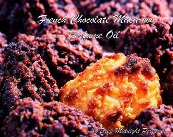 French Chocolate Macaroon Perfume Oil - Creamy Chocolate, Toasted Coconut, Vanilla, Gourmand Perfume