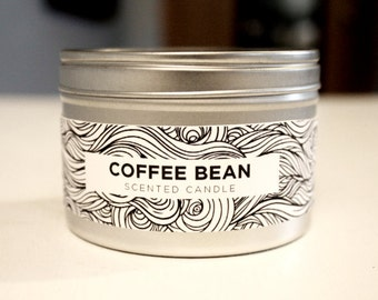 Coffee Bean 8oz Soy Candle