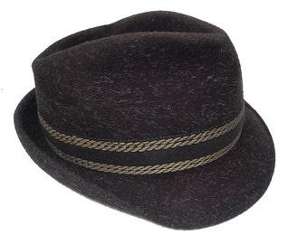 Brown JEAN boy hat size 57 VINTAGE