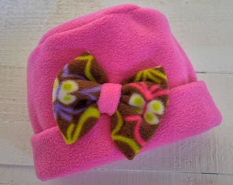 Bright and warm girls' hat