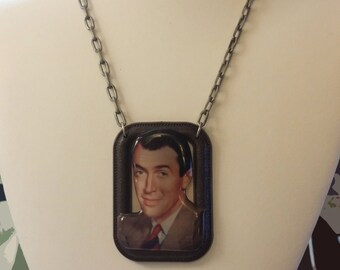 Classic Hollywood Lovers Necklace ~ Jimmy Stewart