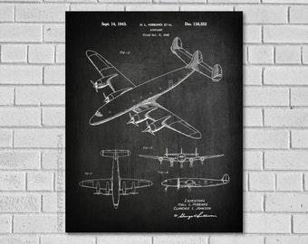 Lockheed Constellation Aircraft - Airplane Blueprint - Aviation Gifts - Aviation Blueprint - Airplane Print - Plane - Airplane Gift - VA352