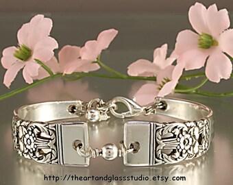 Silver Spoon Bracelet CORONATION Jewelry Vintage, Silverware, Gift, Anniversary, Wedding, Birthday